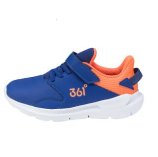 361° 男童软底休闲运动鞋 N71843511 网络蓝/荧光橘红 30