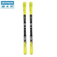 迪卡儂滑雪板男 雙板全地形高山滑雪板女 含固定器 WEDZE6(熒光黃(男款) 176cm)