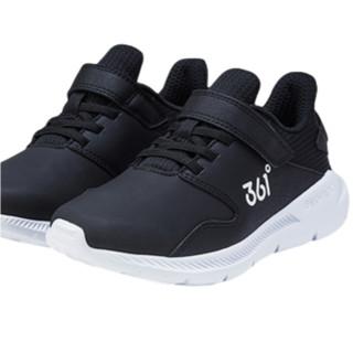 361° 男童软底休闲运动鞋 N71843511 碳黑 30