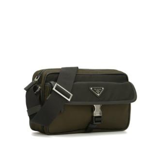 PRADA 普拉达 Saffiano系列男士牛皮拉链单肩包2VH074VZOO-UHS-F099H 迷彩色/黑色