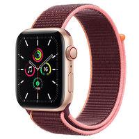百亿补贴:Apple 苹果 Watch SE 智能手表 GPS+蜂窝款 40mm 金色(梅子色回环表带)