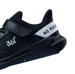 361° 男童软底休闲运动鞋 N71943508 碳黑/本白 30
