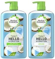 Herbal Essences 洗发水&沐浴露+护发素,不含对羟基苯甲酸酯,保湿补水,29.2液体盎司/865毫升,套装