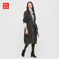 UNIQLO优衣库 428870 女款系带长针织大衣