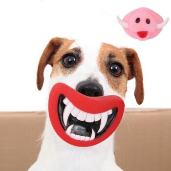 Vieruodis 万圣节狗狗搪胶发声玩具  2个装獠牙款+猪头款