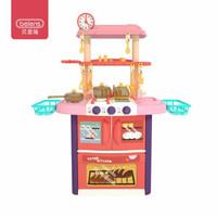 贝恩施 儿童玩具过家家厨房玩具 趣味烹饪餐具台B109粉色