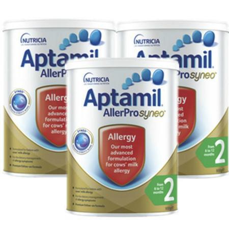Aptamil 爱他美 深度水解抗过敏婴幼儿奶粉 2段 900g 3罐