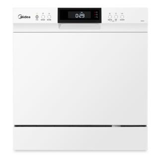 美的W3802H洗碗机全自动家用8套台式嵌入式智能消毒烘干刷碗机