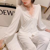 PEANOJEAN 6793 法式性感纯棉睡衣套装