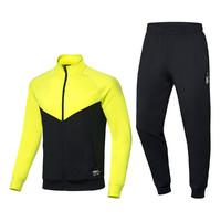 李宁羽毛球服男款秋冬季长袖长裤透气套装比赛球服 *2件