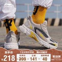 李宁跑步鞋男鞋官方老爹鞋休闲跑鞋复古轻便减震鞋子男士运动鞋