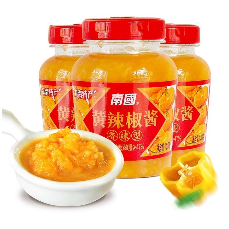 南国 黄灯笼辣椒酱 135g*3瓶