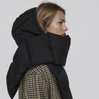 新奇好物:ZARA 03739212800 女装 绗缝连帽围巾