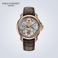 艾米龙(Emile Chouriet)瑞士手表 18K玫瑰金陀飞轮手动机械男表28.1188.G.4.4.08.2
