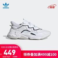 阿迪达斯官网 adidas 三叶草 OZWEEGO 男女鞋经典运动鞋EF4287 晶白/亮白/1号黑色/一度灰 36.5(225mm)