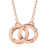 CHJ JEWELLERY 潮宏基 环环相扣系列 XQK30003123 女士18K玫瑰金双环项链