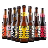 BUZZ 蜂狂 buzz啤酒 蜂蜜桂花小麦啤 330ml/瓶*8瓶