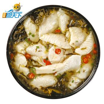 ZHONGYANG FISH WORLD/中洋鱼天下 酸菜巴沙鱼片 450g(鱼片300g+酸菜包150g)  *9件
