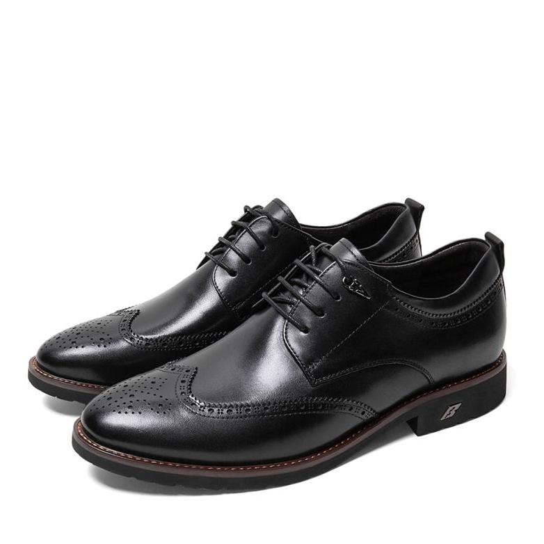 BeLLE 百丽 B8726CM9 布洛克商务皮鞋