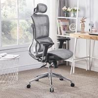 移动端 : 支家 ZY 人体工学椅家用办公椅 黑框灰网+铝合金脚