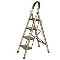奥鹏 铝合金加厚折叠四步梯