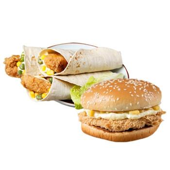 辅兴坊 早餐组合装 4个奥尔良鸡腿堡+4个老北京鸡肉卷