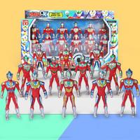 励嘉 百变超人奥特曼系列玩具 12个装中号