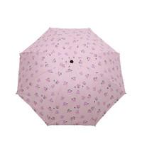 巧玉 黑胶晴雨伞 三折 两款可选