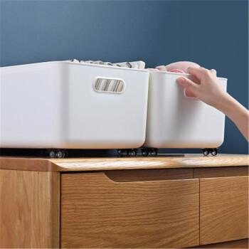 斑哲 移动收纳箱 可粘贴滑轮 4个装