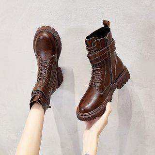 Cover 卡文 2047127041 女款真皮马丁靴