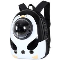 德普乐外出太空舱便携双肩宠物透明背包