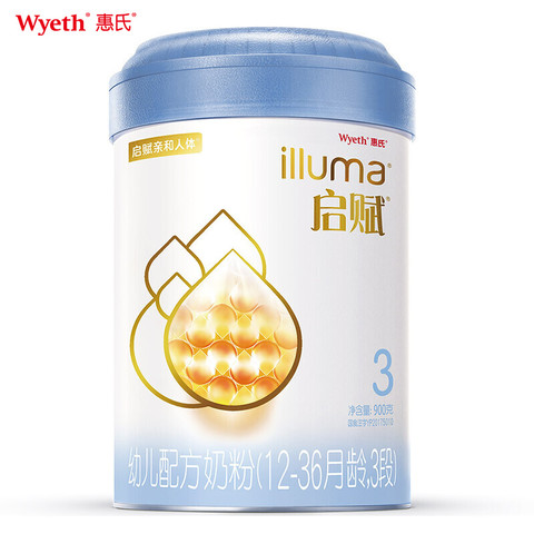 Wyeth 惠氏 启赋 幼儿配方奶粉 3段 900g
