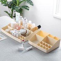 分格塑料首饰口红盒创意护肤品指甲油盒子桌面梳妆盒化妆品收纳盒