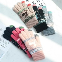 移动专享:卉兰妮 圣诞麋鹿 触屏保暖手套