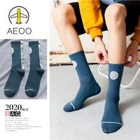 聚划算百亿补贴:Aeoo 艾依欧 2020082305 男士中筒袜