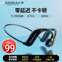 山水(SANSUI)JG6 蓝牙耳机 新概念不入耳耳机 双耳挂耳式 无线运动耳机 防水防汗 适用安卓苹果VIVO小米 *4件