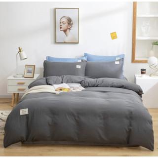 移动端 : 柚寝 无印风水洗棉三件套 1.2m