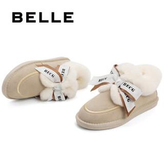 BeLLE 百丽 22328DM0 羊毛绒雪地靴