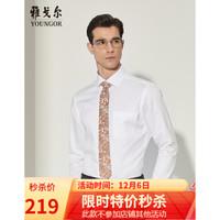 雅戈尔youngor 衬衫 男士长袖衬衫