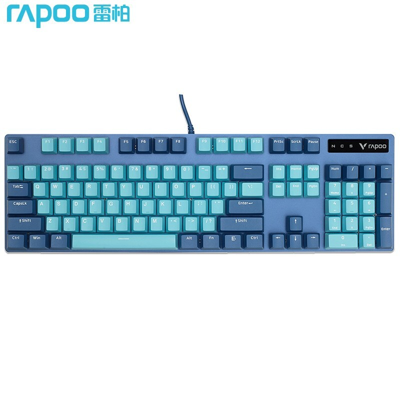 Rapoo 雷柏 V500PRO 青蓝版 机械键盘 104键 红轴