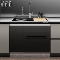 美仕杰 厨房模块化洗碗机集成水槽 (不锈钢标准款)