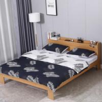 喜视美 北欧实木双人床 榉木色 1.5*2m 单床