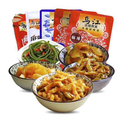 乌江  涪陵榨菜套餐  5种口味 15袋装 约710g