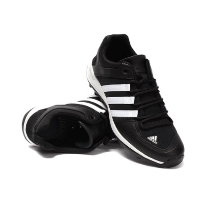 adidas 阿迪達斯 中性休閑運動鞋 B44328 一號黑/白/一號黑 42