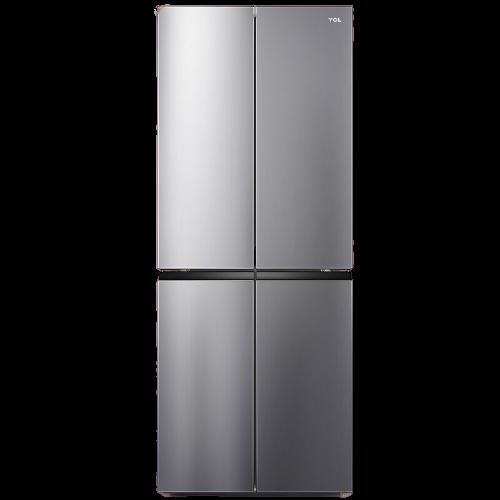 TCL BCD-408WZ50 变频十字对开门冰箱 408L 典雅银