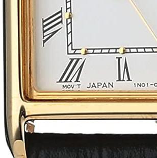 SEIKO 精工 SXGN42 女士石英手表 20.3mm 白盘 黑色皮带 方形