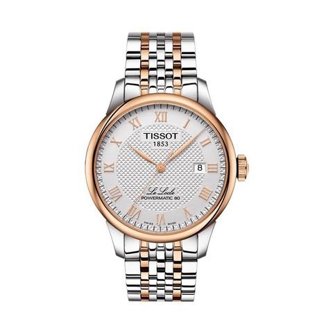 历史低价:TISSOT T006.407.22.033.00 力洛克系列 钢带机械男士手表