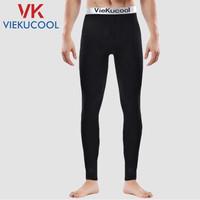 移动专享 : VIEKUCOOL 男士单件保暖打底裤 加绒 黑色1条装