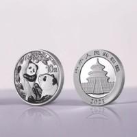 2021年普制熊猫银币(单枚装)30克