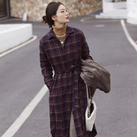 UNIQLO 优衣库 431382 女装法兰绒衬衫式连衣裙
